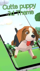 Download 3D Cute puppy theme&Lovely dog wallpaper 2.0.6 APK