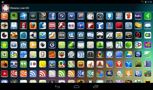 Download Chrome Line Lite - Icon Pack 1.9.5 APK