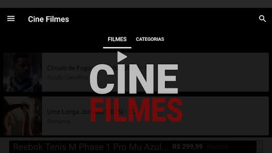 screenshot of Cine Filmes version 1.5.2