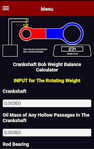 Download Crankshaft Bob Weight Balance Calculator 7 APK