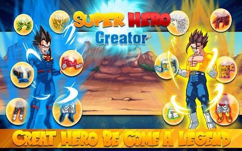 screenshot of Create Dragon Z Saiyan Warrior version 1.04
