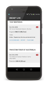 screenshot of IND vs AUS Live Indian Cricket version 3.0