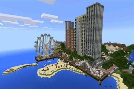 Download Deep Ocean City map for MCPE 1.1 APK