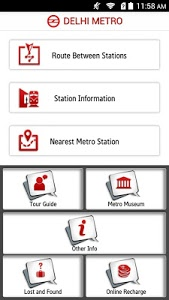 screenshot of Delhi Metro Rail version 3.5