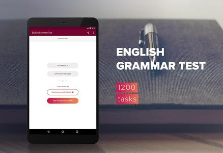 screenshot of English Grammar Test version 1.9.7