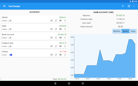 screenshot of Fast Budget - Expense Tracker & Money Manager version 4.10.5