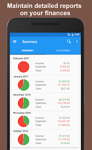 screenshot of Fast Budget - Expense Manager version 4.6.6