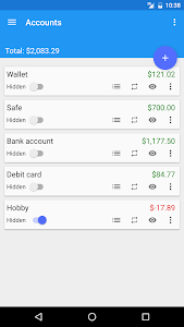 screenshot of Fast Budget - Expense Manager version 4.1.4
