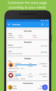 screenshot of Fast Budget - Expense Manager version 4.2.2
