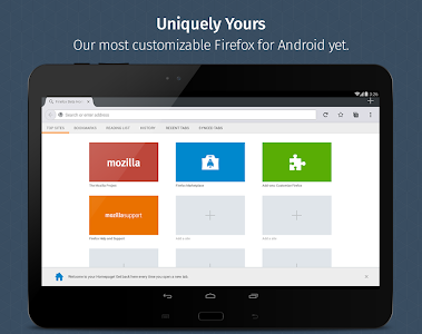 screenshot of Firefox for Android Beta version 65.0