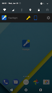 screenshot of Flashlight version 1.28