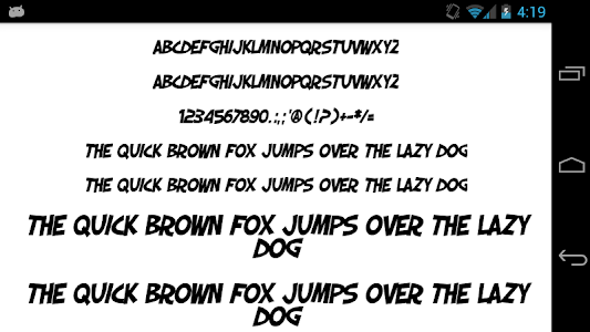 Download Fonts for FlipFont 50 Comic 3.23.0 APK