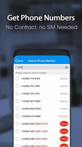 screenshot of Free phone calls, free texting SMS on free number version 4.2.1