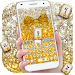Download Gold glitter bowknot keyboard 10001034 APK