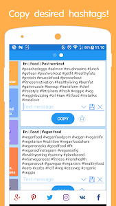 screenshot of Hashtags for promotion version 1.0.525-56
