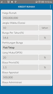 screenshot of Hitung Kredit Lengkap version 5.0.7