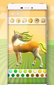 screenshot of Horse Coloring Book 3D version 1.8