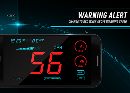 screenshot of Hud Speedometer - Car Speed Limit App with GPS version 1.5