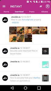 screenshot of REPOST VIA INSTANT (Save & Repost) version 1.1.16