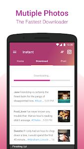 screenshot of INSTANT (Insta save, Repost, Regram ) version 1.0.4