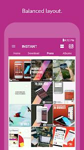 screenshot of INSTANT (Save, Repost, Regram ) version 1.1.0