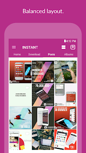 screenshot of INSTANT (Save & Repost) version 1.1.3