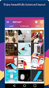 screenshot of INSTANT (Save, Repost, Regram ) version 1.0.9