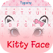 Download Kitty Face Theme Keyboard 4.5 APK