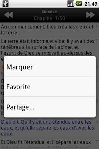 screenshot of La Sainte Bible, Louis Segond version 1.4