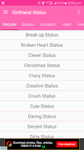 Download Status for Girls , Cute and Stylish Girly Status 1.6 APK