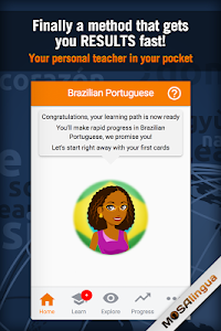 screenshot of Learn Portuguese Free version Varies with device