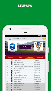 screenshot of LiveScores - Soccer Schedule & Results version 7.0