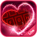 Download Live Neon Red Heart Keyboard Theme 6.12.22.2018 APK