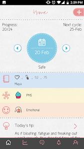 screenshot of Maya - Period, Fertility, Ovulation & Pregnancy version 3.6.7.3