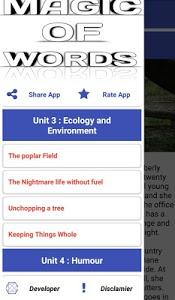 screenshot of Magic Of Words Grade 11 | Offline | version 2.1