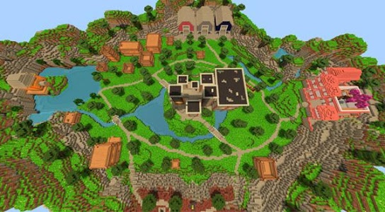 screenshot of Map Fortnite Battle Royale for MCPE version 1.0