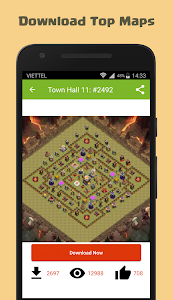 screenshot of Maps of Clash of Clans version 1.0