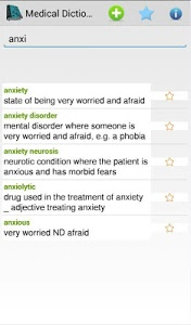screenshot of Medical Dictionary Offline version 1.0