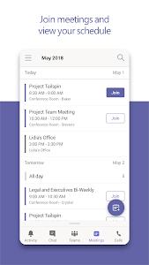 screenshot of Microsoft Teams version 1416/1.0.0.2019011401