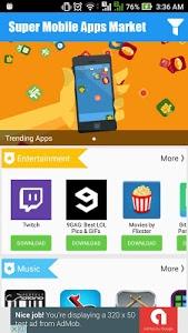 screenshot of Super Mobile Apps Market version 1.0.3