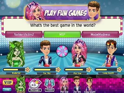 screenshot of MovieStarPlanet version 16.0