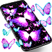 Neon butterflies glowing live wallpaper