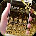 Download Gold Glitter theme Neon Gold 1.1.7 APK