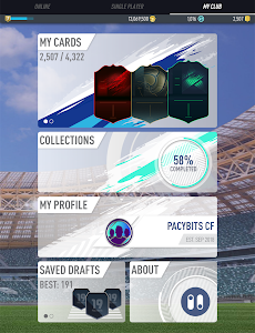 screenshot of PACYBITS FUT 19 version 1.2.8
