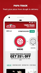 screenshot of Papa John's Pizza version 4.14.10337