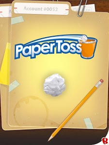 screenshot of Paper Toss version 2.1.1