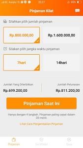 screenshot of Pinjaman Kilat - pinjam uang dana tunai cepat version 2.1.0