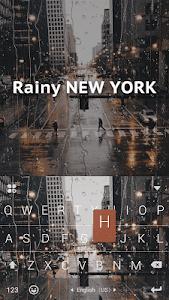 Download Rainy NewYork Kika Keyboard 11.0 APK
