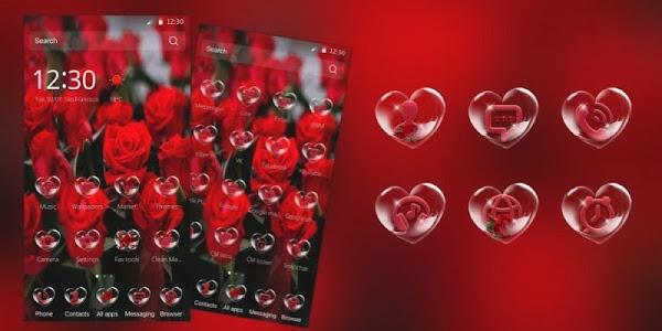 Download Red Rose Love Secret Theme 1.1.2 APK