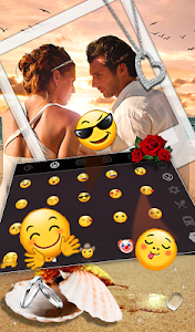 Download Romantic Love Couple Photo Keyboard Theme 6.10.16.2018 APK